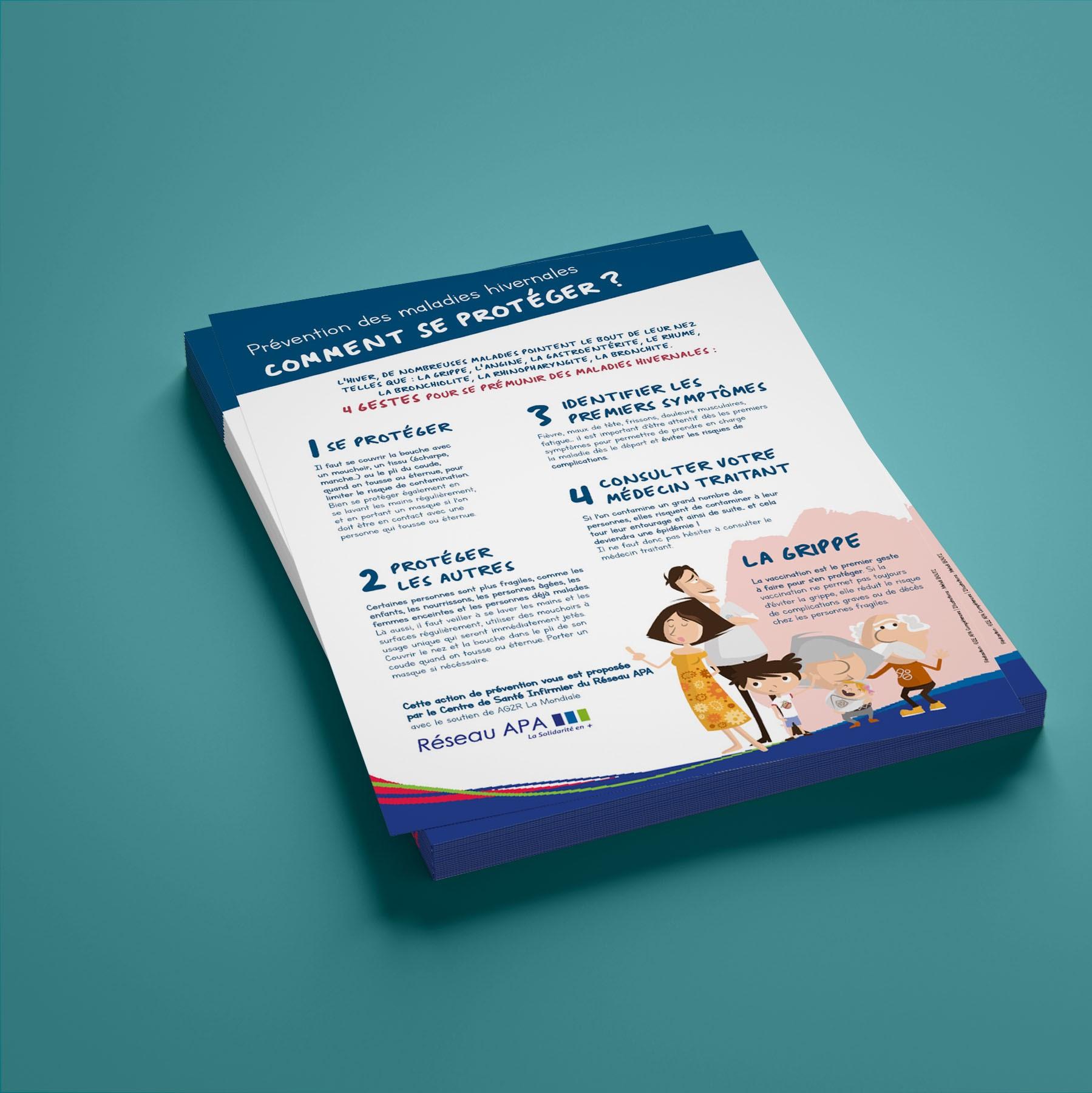 APAMAD • Flyer message de prévention