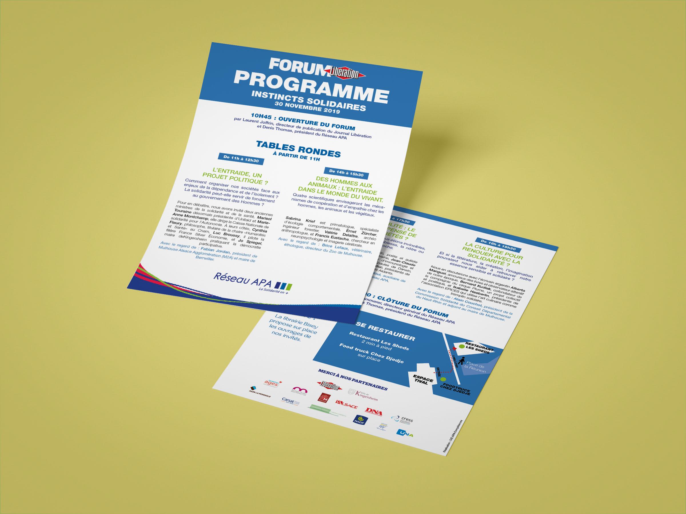 RESEAU APA • Flyer programme Forum Libération (partenariat ponctuel)
