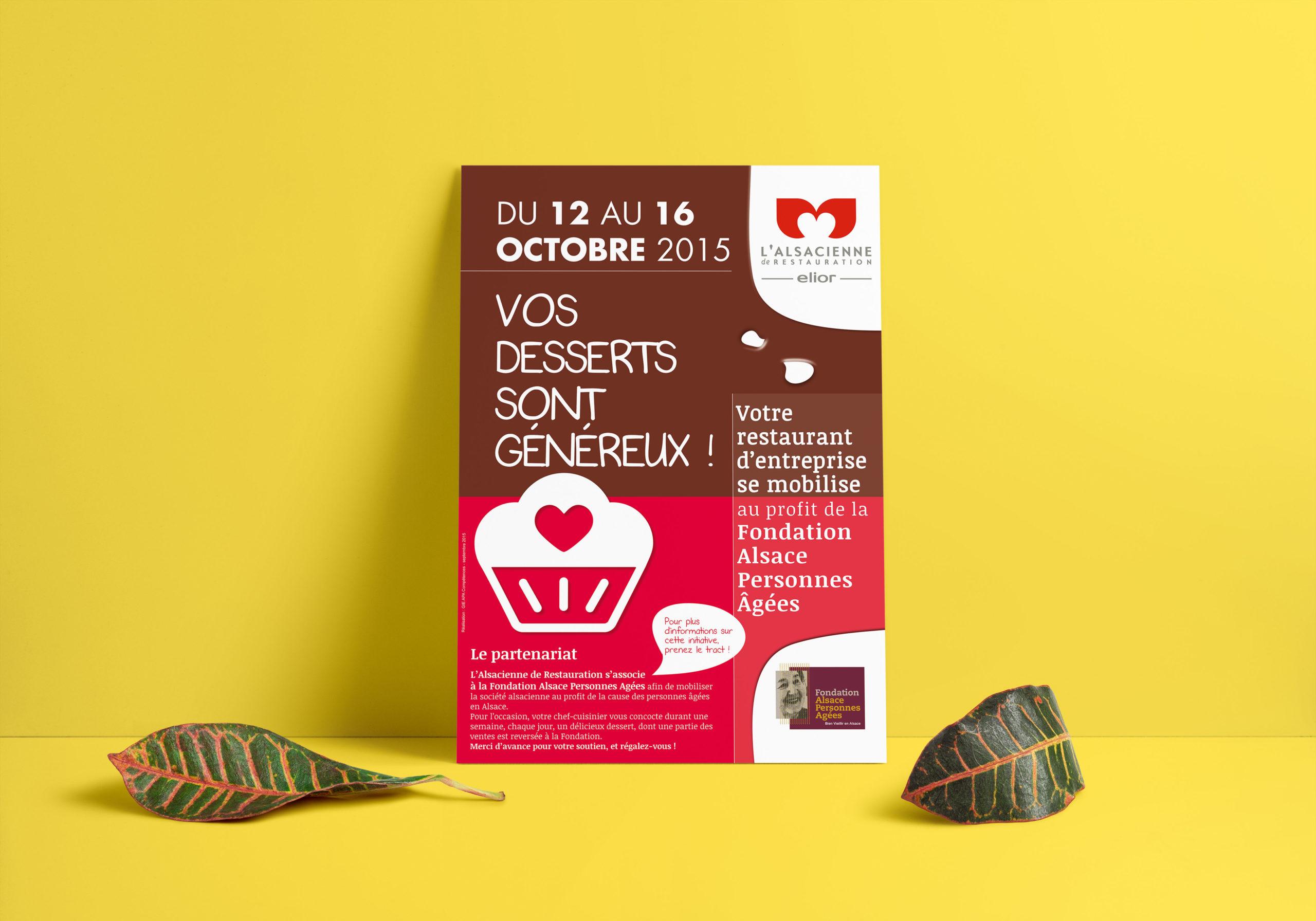 FONDATION AGES • Affiche Campagne Vos Desserts Sont Généreux